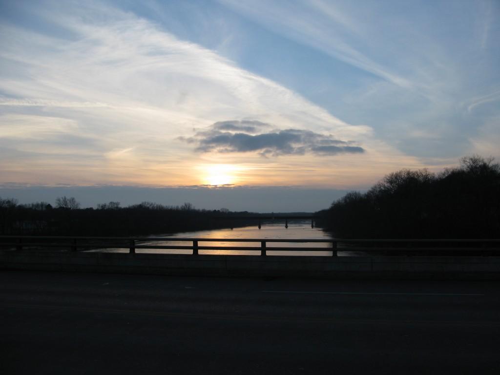 På en bro syd for Chippewa Falls da jeg ledte efter et sted at sove.