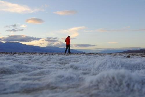 Saltkrystaller i Badwater, det laveste sted på den vestlige halvkugle.