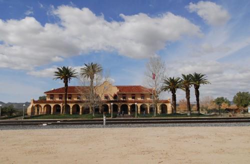Kelso Depot midt i Mojaveørkenen.