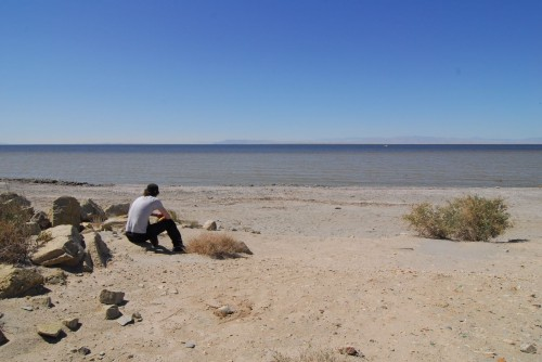 Mads overlooking Salton Sea...