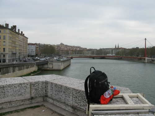 Alone in Lyon, this is my bag, a school bag I got for my birthday many years ago now.