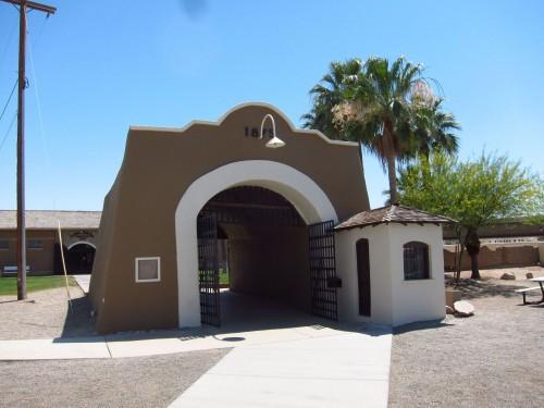 Indgangen til Yuma Prison.