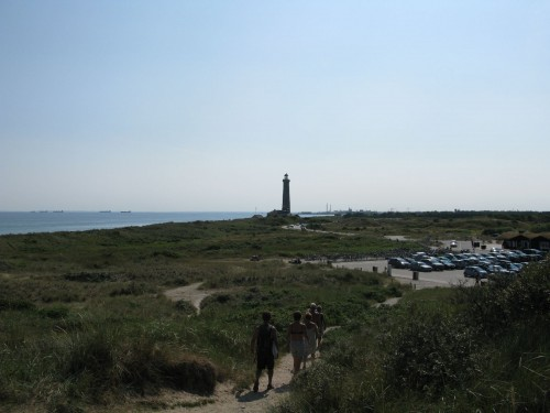 A light house. Looking towards the Skagen city