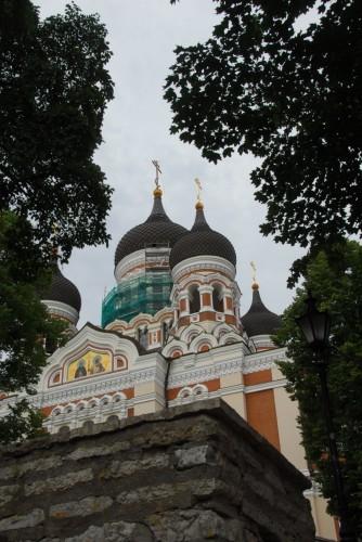 Den russisk-ortodokse kirke i Tallinn.