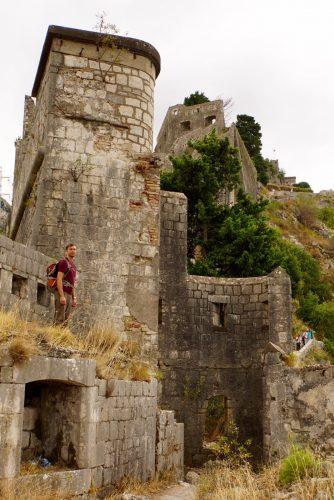 En lille bitte del af borgen over Kotor.