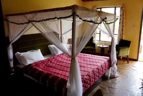 Vores hyggelige hytte på AA lodge i Amboselli National Park.