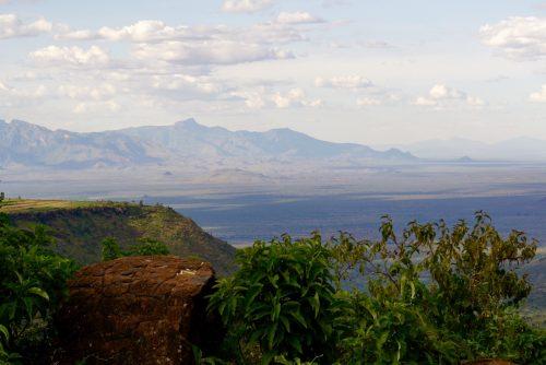Storslået udsigt over det østlige Uganda.