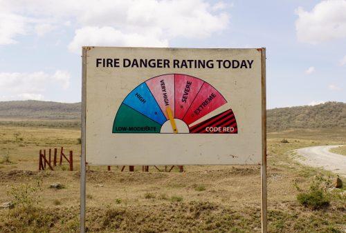 Der er åbenbart brandfare i Kenya.