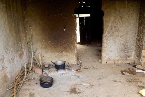 Skolekøkkenet, hvor Josephine laver frokost til lærerne.