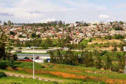 Kigali, hovedstaden i Rwanda.